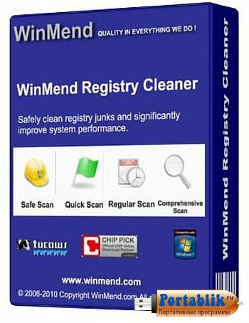 WinMend Registry Cleaner 1.8.1.0 Portable - ������������ ���������� ������� Windows
